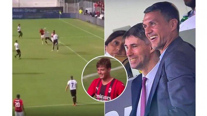 Reaksi Paolo Maldini melihat Gol Daniel Maldini saat Spezia Vs AC Milan.