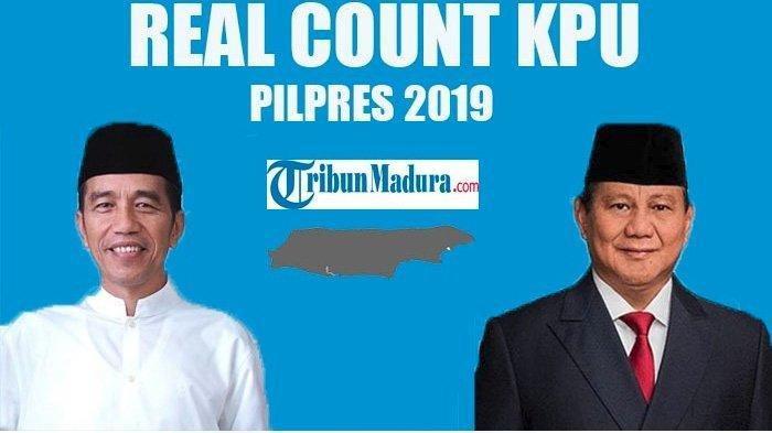 Update Real Count KPU Pilpres 2019 Sabtu Siang Suara Masuk 65,18%, Jokowi-Amin Masih Unggul