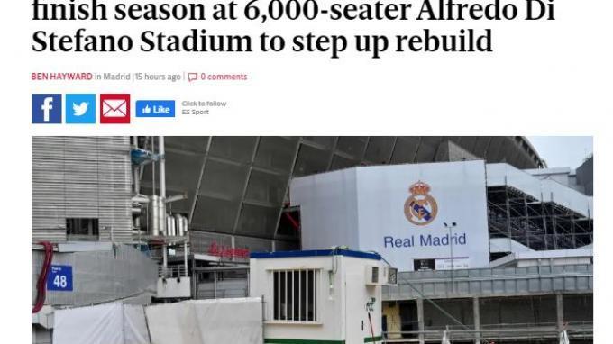 Real Madrid akan Benahi Stadium Santiago Bernabeu