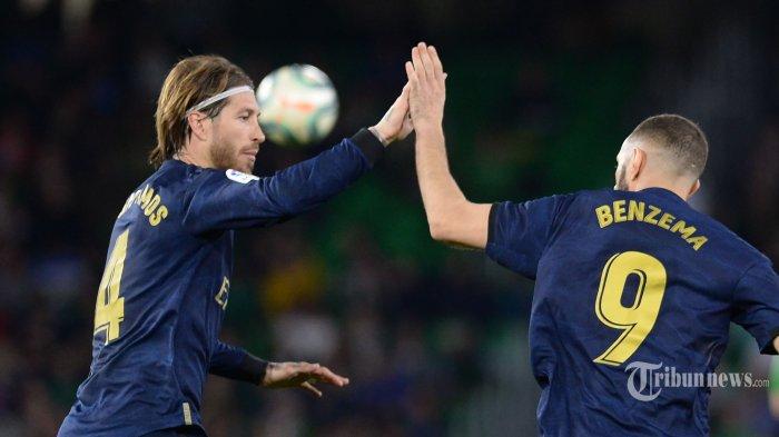 Hasil Klasemen Liga Spanyol, Ramos dan Benzema Bawa Real Madrid Geser Posisi Barcelona