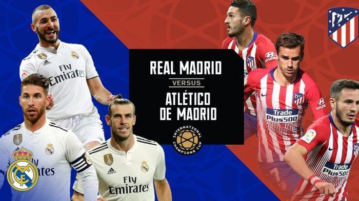 Hasil Real Madrid vs Atletico Madrid, Hujan Gol & Kartu Merah Warnai Kemenangan 3-7 Los Rojiblancos