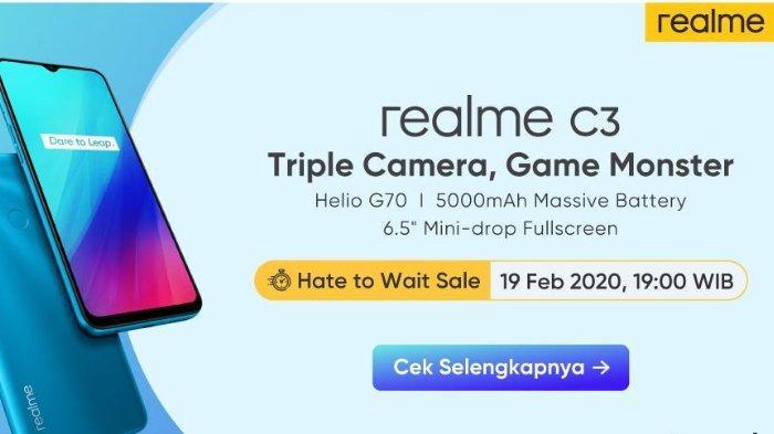 Realme C3: Ponsel Triple Camera dan Game Monster, Rilis di Indonesia 19 Februari 2020 Mendatang