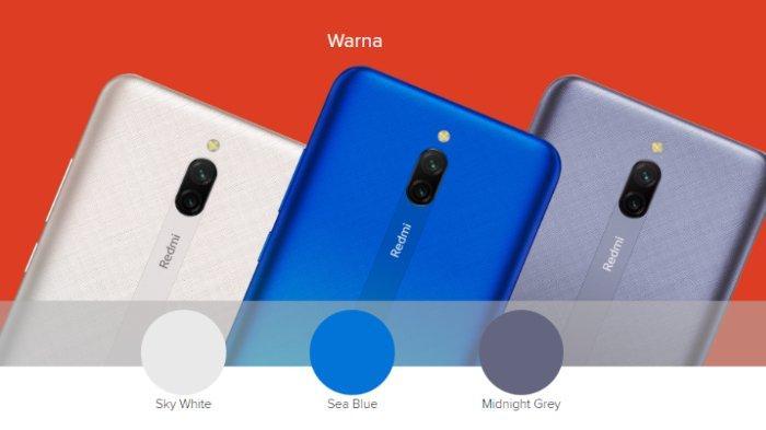 Pilihan warna Redmi 8A Pro.
