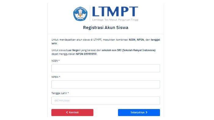 Login portal.ltmpt.ac.id untuk Registrasi Akun LTMPT, Ditutup 1 Februari 2021, Ini Panduannya