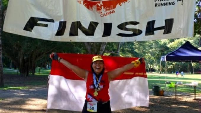 Pelari marathon Indonesia, Regnata Revi Fayola.