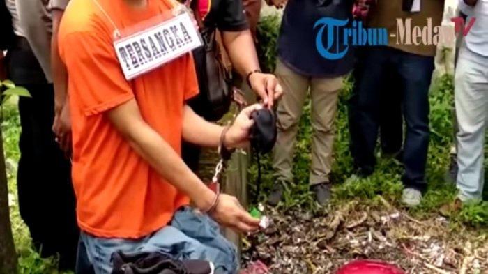 Reka ulang adegan menghilangkan barang bukti pembunuhan Hakim PN Medan Jamaluddin
