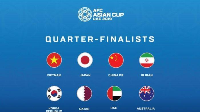 Rekap Hasil Perempat Final Piala Asia AFC 2019, Dominasi Tim Asia Barat