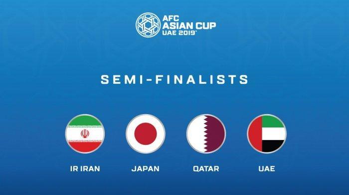 Jadwal Semifinal Piala Asia AFC 2019, Dominasi Tim Asia Barat, dan Satu Perwakilan Asia Timur