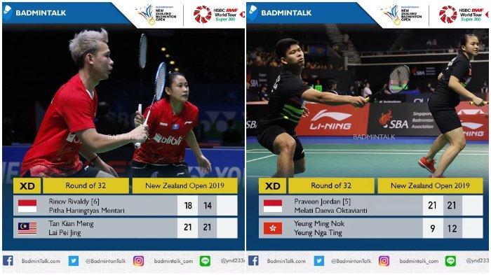 Rekap Hasil New Zealand Open 2019 Hari Pertama: 2 Ganda Campuran Indonesia Maju ke Babak Kedua