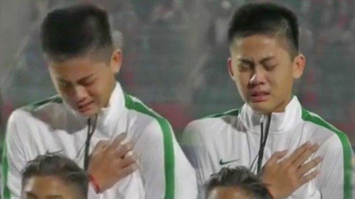 Siapa Pemain Timnas U-16 Indonesia yang Sempat Nangis Kejer saat Nyanyikan Lagu Indonesia Raya?