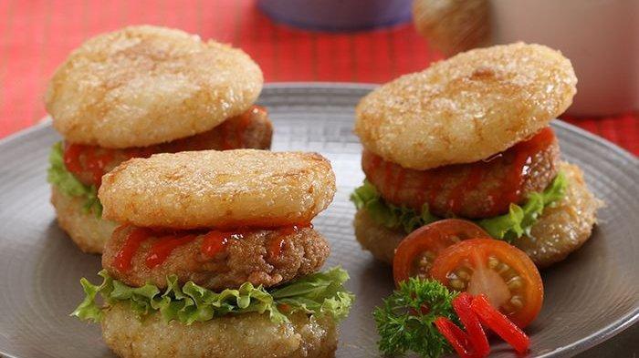 Resep Burger Ketan