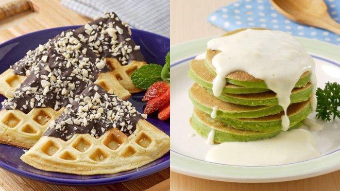 Resep Wafel Tape Cokelat dan Pancake Bayam Saus Keju, Dijamin Bikin si Kecil Semangat Sarapan!