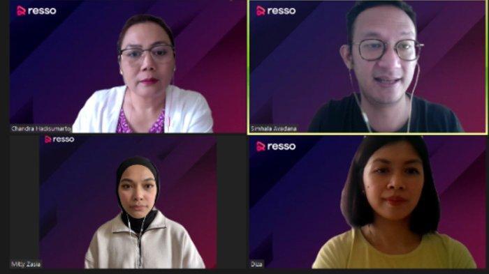 Diskusi virtual bertajuk Coaching Clinic yang diadakan Resso, Kamis (22/7/2021)