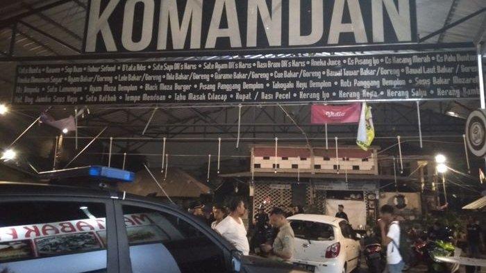 Restoran Komandan yang jadi korban pengerusakan suporter bola di Kasablanka, Selasa (2/8/2019)