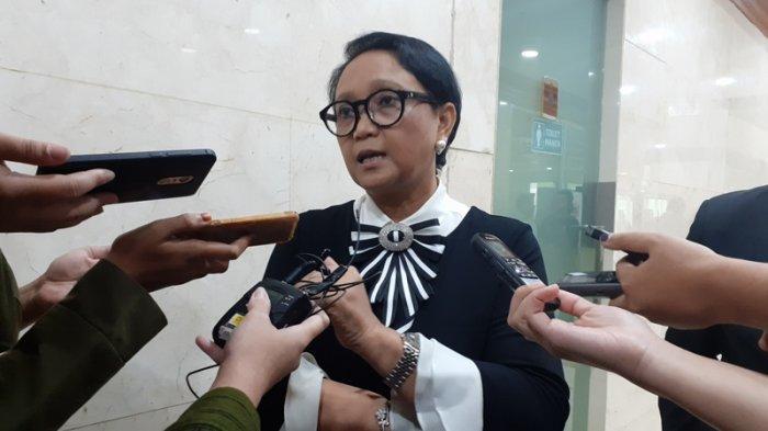 Menteri Luar Negeri RI Retno LP Marsudi saat ditemui di kompleks gedung DPR RI, Jakarta, pada Rabu (11/9/2019).