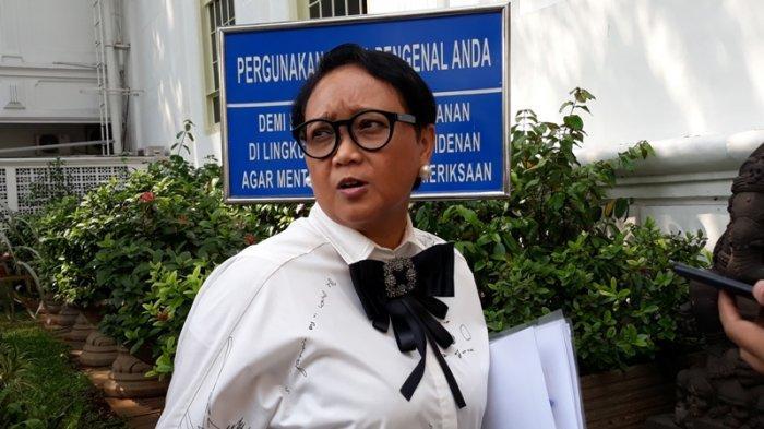 Menteri Luar Negeri (Menlu) Retno Marsudi, Senin (27/5/2019) di Kompleks Istana Kepresidenan, Jakarta. (Theresia Felisiani/Tribunnews.com)