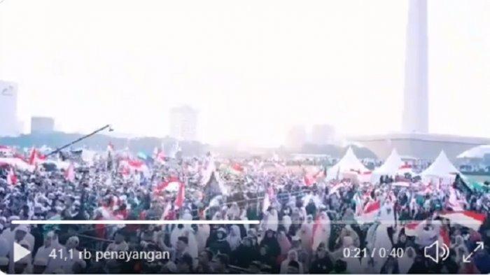 Reuni 212 di Jakarta, Senin (2/12/2019).