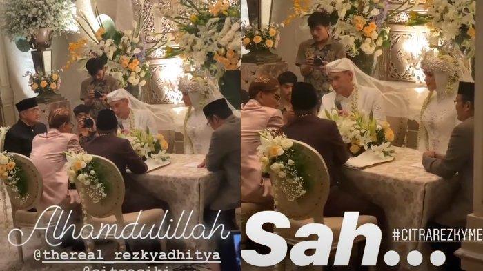 Rezky Aditya dan Citra Kirana sah menjadi suami istri, Minggu (1/12/2019)