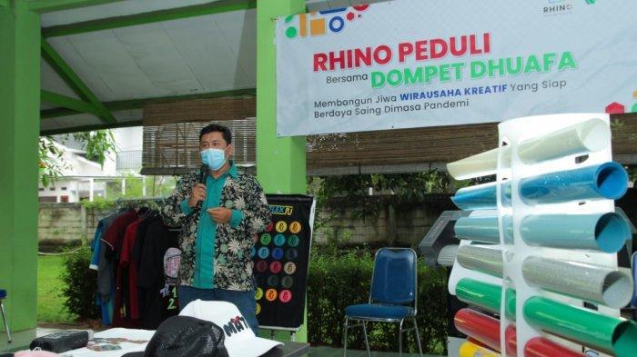 Rhino Indonesia Gandeng Institut Kemandirian Dompet Dhuafa Berikan Paket Usaha Sablon Digital