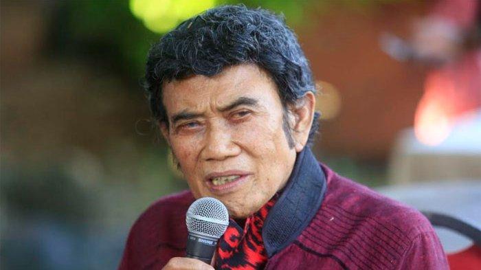 Rhoma Irama dalam jumpa pers di Soneta Record, Depok, Jawa Barat, Selasa (8/12/2020).
