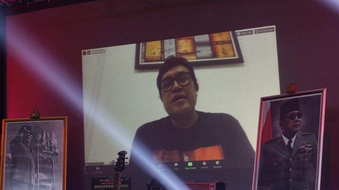 Maman Yudia dan pengurus DPC PDI Perjuangan Subang dalam acara Subang Bung Karno Fest 2020.