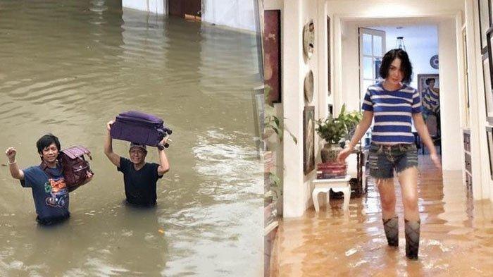 Rian dmasiv, Yuni Shara jadi korban banjir
