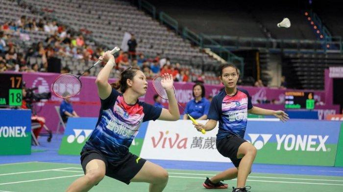 Ribka Sugiarto dan Siti Fadia Silva R gandanya saat menjalani pertandingan
