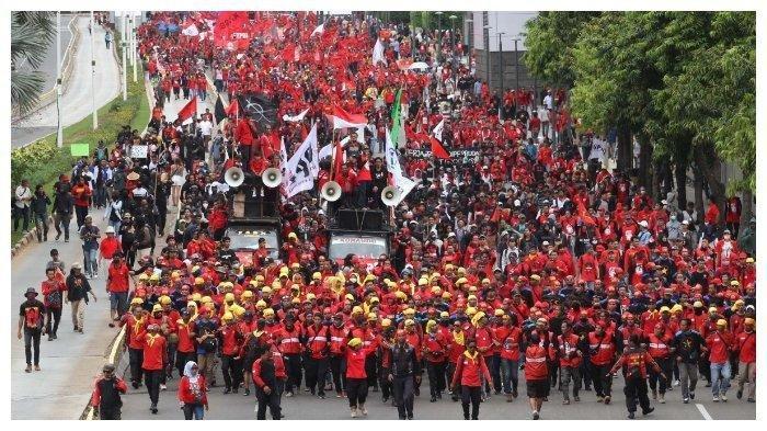 6.000 Personel Gabungan Amankan Aksi Unjuk Rasa Buruh, Polisi Lakukan Rekayasa Lalu Lintas