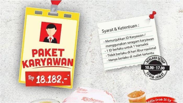 Ada Promo Khusus Paket Karyawan di Richeese Factory, Lihat List Outletnya