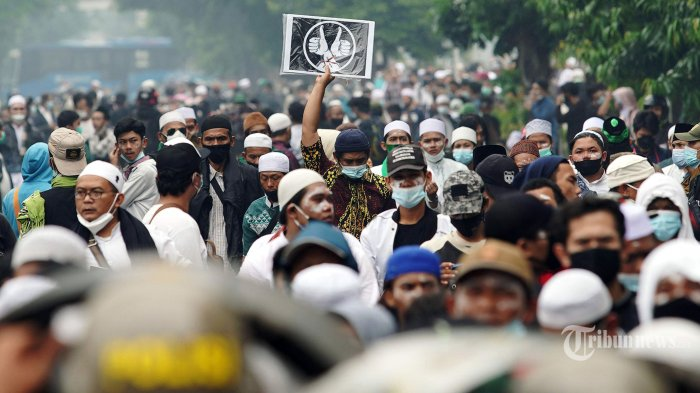 Polisi Amankan 150 Massa Simpatisan Rizieq Shihab
