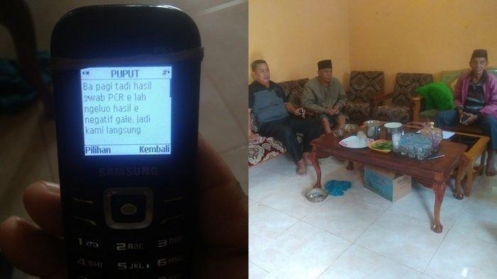 Ridwan, ayahanda Indah (paling kiri) masih menunggu informasi seputar pesawat Sriwijaya Air SJY 182 yang hilang kontak, di mana putrinya menumpang pesawat tersebut.