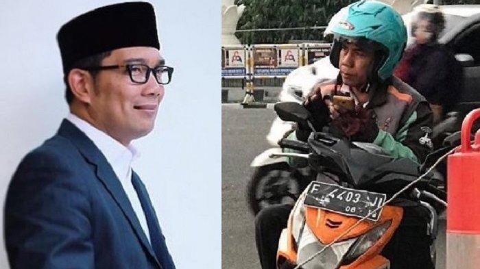 Hadiah yang Diberikan Ridwan Kamil untuk Nanda, Driver Ojol yang Promosikan Cagub No Urut 1