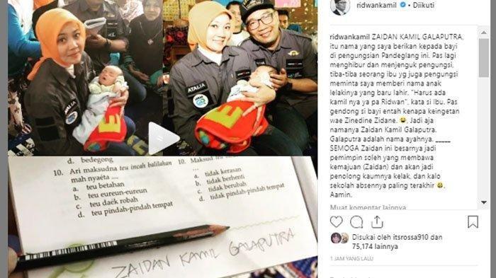 Kunjungi Korban Tsunami Selat Sunda, Ridwan Kamil Diminta Ibu Beri Nama Seorang Bayi