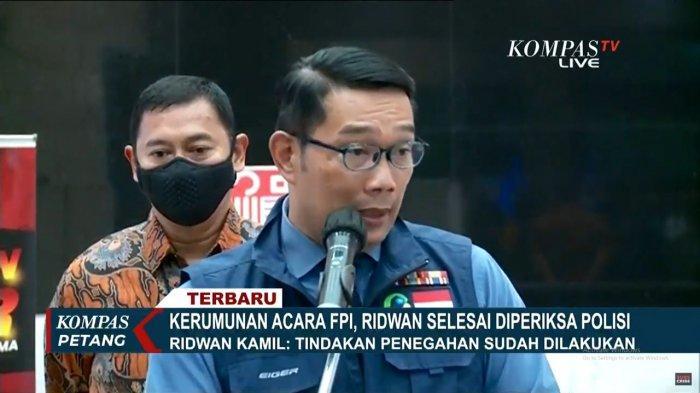 Ridwan Kamil (RK) mengungkap alasan Kapolda Jawa Barat tidak membubarkan secara paksa kerumunan massa di Megamendung