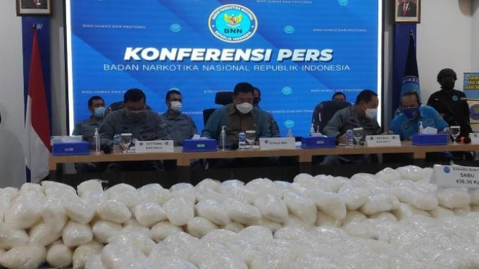 BNN Ungkap Sindikat Narkoba di 4 Wilayah Berbeda, 466 Kg Sabu Disita