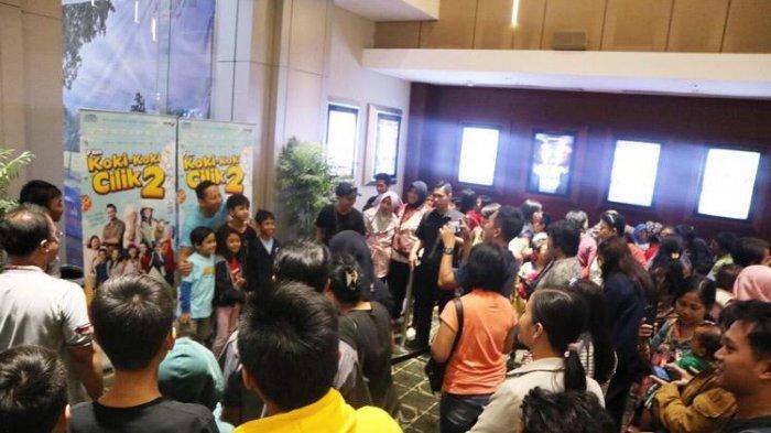 Keseruan Screening Film Koki Koki Cilik 2 di Surabaya, Adhiat dan Marcello Kasih Kejutan