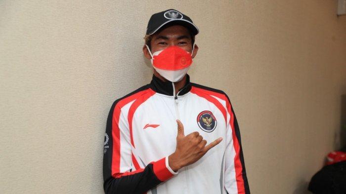 Rio Waida Pembawa Bendera Kontingen Indonesia di Acara Pembukaan Olimpiade Tokyo 2020