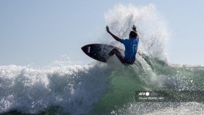 Hasil Surfing Olimpiade Tokyo 2021: Rio Waida Ditunggu Wakil Jepang di Babak 16 Besar