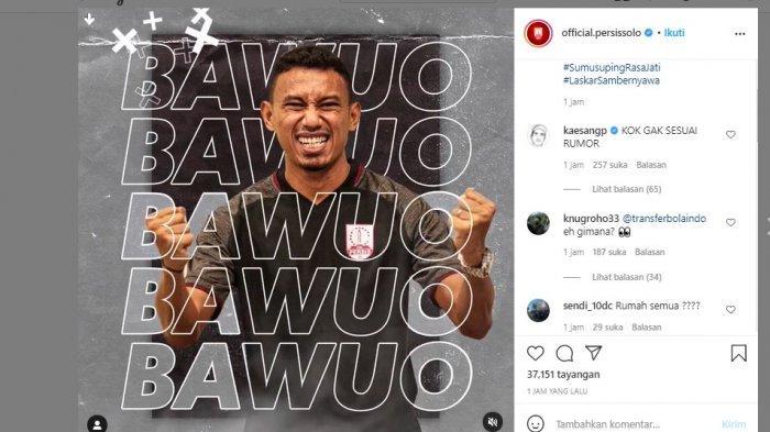 RESMI - Persis Solo Pinang Rivaldi Bawuo, Kaesang Pangarep: Kok Gak Sesuai Rumor