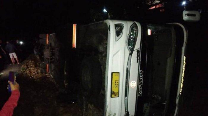 Bus Rombongan Wisatawan Kecelakaan di Gunung Kidul