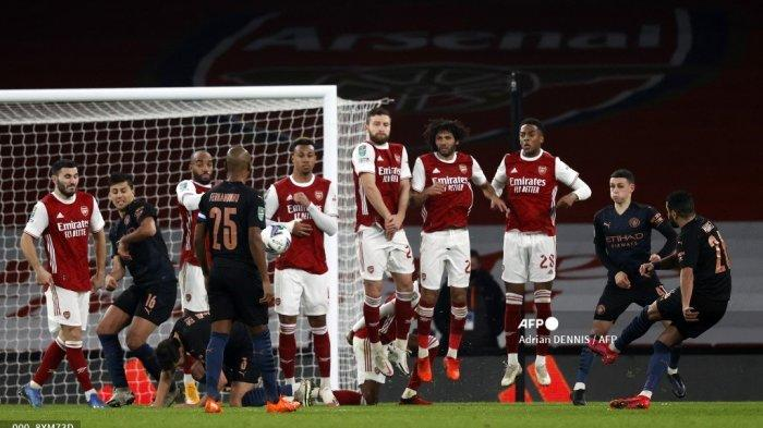 HASIL Arsenal vs Manchester City Carabao Cup: The Gunners Takluk 1-4 dari The Citizens