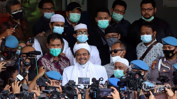 Habib Rizieq Datang ke Polda Tanpa Iirngan Massa, Bagaimana Situasi di Markas FPI Petamburan?