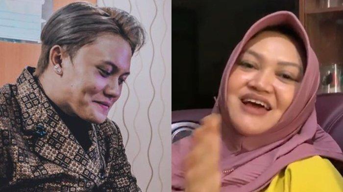 Rizky Febian dan Lina Jubaedah semasa hidup.
