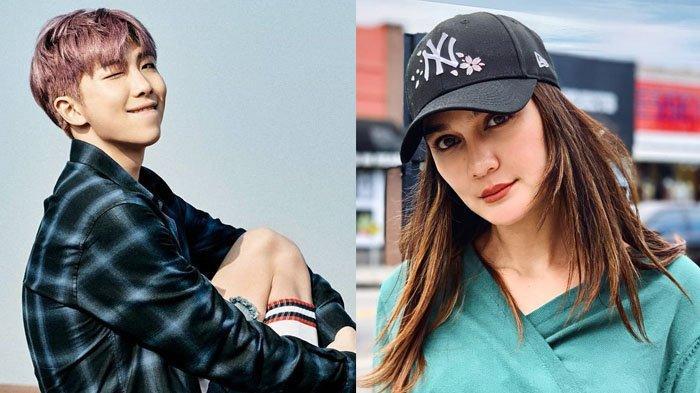 Pamer Kedekatan dengan Halsey, Luna Maya Justru Ditagih Foto Bareng RM BTS