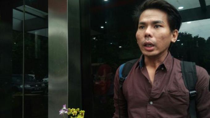 Robby Abbas ditemui di Polda Metro Jaya, Jakarta, Selasa (4/10/2016).