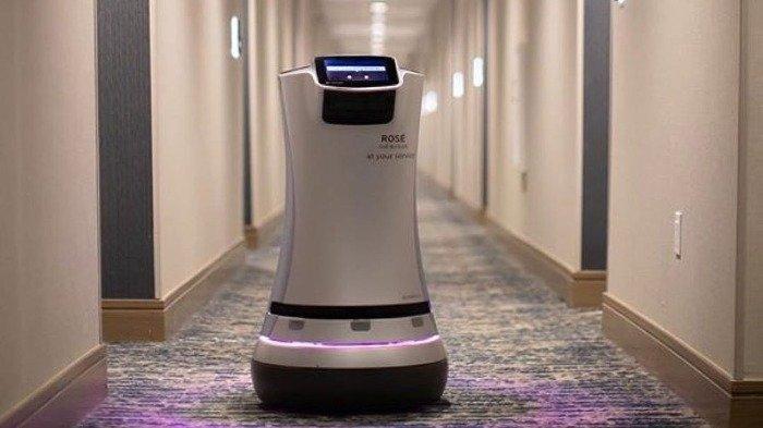 Terapkan Social Distancing, Hotel di California Ini Pakai Robot untuk Antar Pesanan ke Tamu