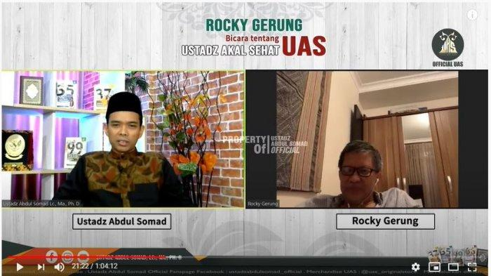 Abdul Somad undang Rocky gerung live streaming.