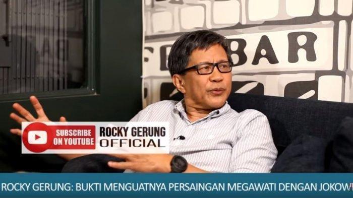 Pengamat Politik, Rocky Gerung turut mengomentari hasil survey yang dilakukan Indo Barometer, YouTube Rocky Gerung Official, Kamis (5/3/2020).