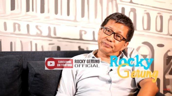 Rocky Gerung dalam kanal YouTube Rocky Gerung Official, Kamis (12/12/2019). Rocky Gerung ungkap adanya permainan politik di BUMN.