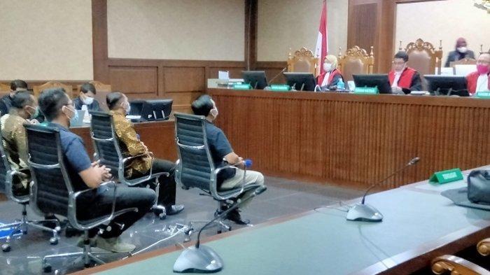 Suasana sidang Tindak Pidana Pencucian Uang (TPPU) dengan terdakwa mantan Panitera Pengganti di Pengadilan Negeri Jakarta Utara, Rohadi, di Pengadilan Tipikor Jakarta pada Kamis (20/5/2021).